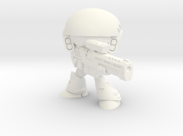 MERC SOLDIER-006 (AIMING) in White Strong & Flexible Polished