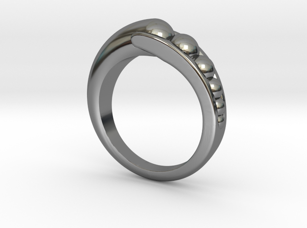 Transition Ring Szie 7 in Fine Detail Polished Silver
