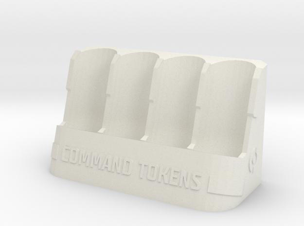 Command Tokens Vertical in White Natural Versatile Plastic