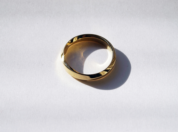Mobius Narrow Ring I (Size 10) in 14k Rose Gold Plated