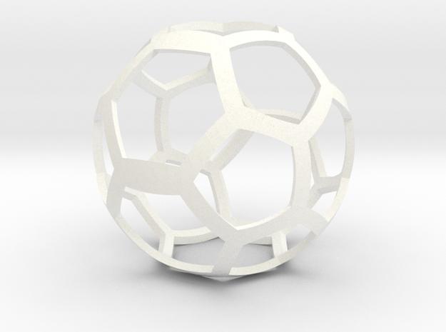 Elastoplastic Ball in White Processed Versatile Plastic