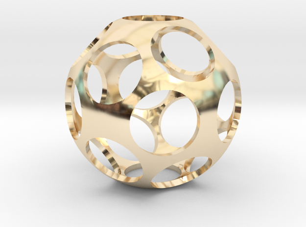 Ball Shaped Pendant in 14K Gold