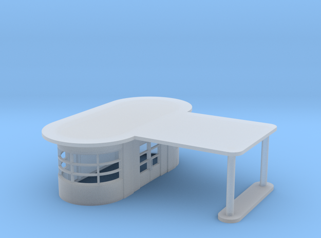 Art Deco Gas Station in Smooth Fine Detail Plastic