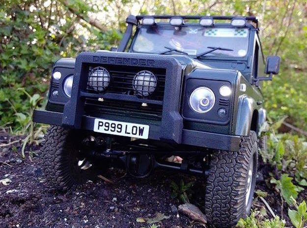 Defender A-Frame Protection Bar - Light Buckets in White Strong & Flexible Polished