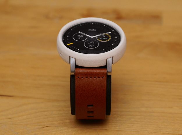 Moto 360 Gen 2 Bumper Case - 46mm Mens Tall in White Strong & Flexible