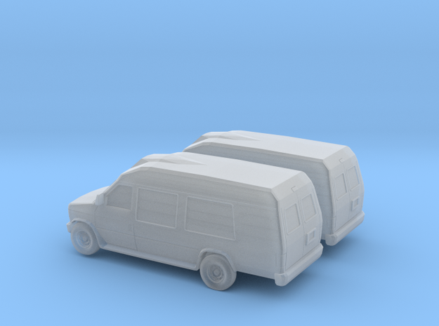 1/148 2X 1997-02 Ford Econoline  Camper in Smooth Fine Detail Plastic