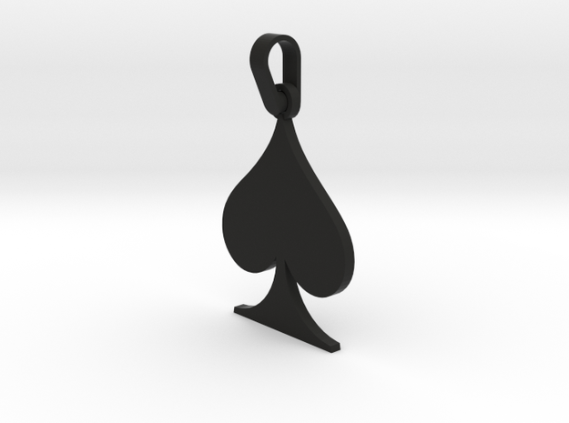 Black Spade Suit Sign Pendant