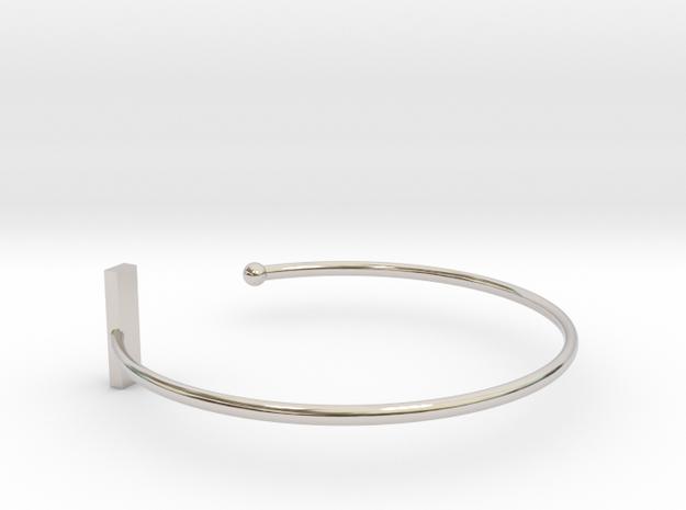 Fine Bracelet Ø 68 mm/2.677 inch R Large in Rhodium Plated