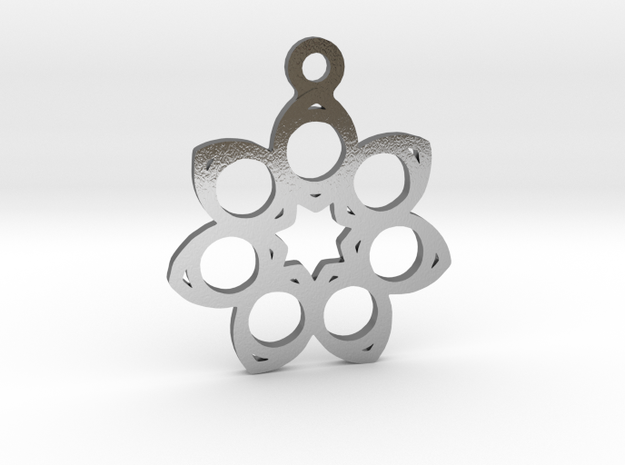 Seven. - Tribute to the Philosophy of Number in Polished Silver