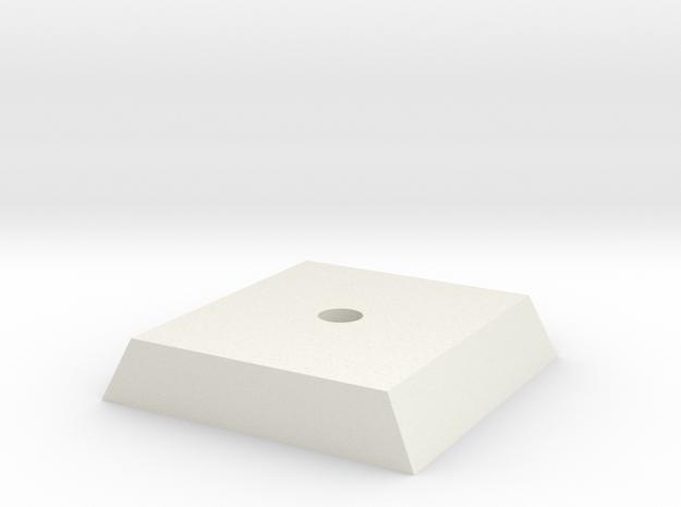 Standard tripod mounting in White Natural Versatile Plastic