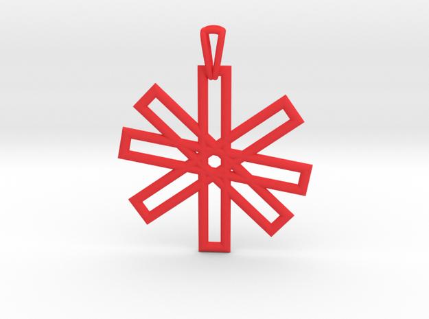 Sacred Geometry Pendant (Big) in Red Processed Versatile Plastic