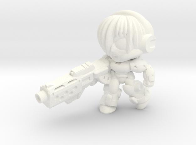 NATALYA CAGE - MGUN - CHARGING in White Strong & Flexible Polished