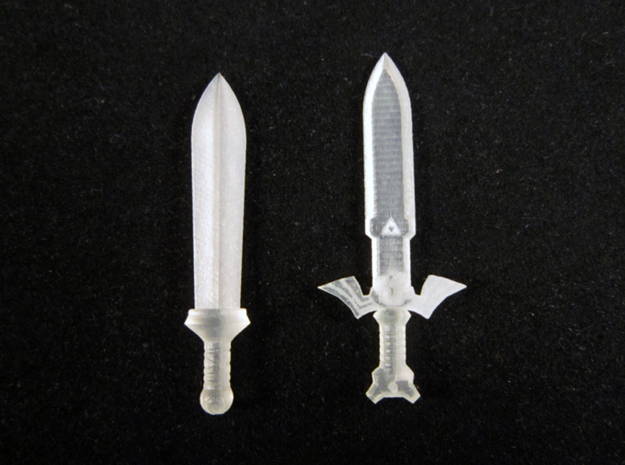 Toon Sword Pack 3d printed Frosted Ultra Detail