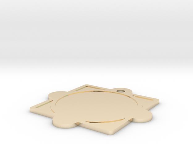 Customizable Mandala Pendant 2 in 14K Gold
