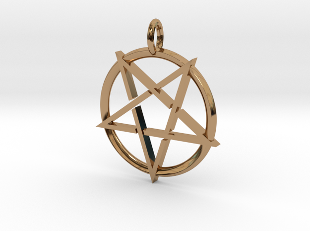 Pentagram in Polished Brass