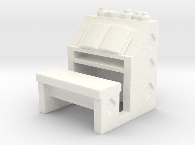 Scribes Bench in White Processed Versatile Plastic