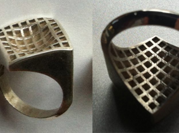 17.5 mm Wave 0001 in Raw Silver