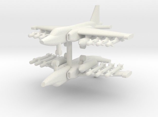 1/200 Su-25 Frogfoot (x2) in White Natural Versatile Plastic