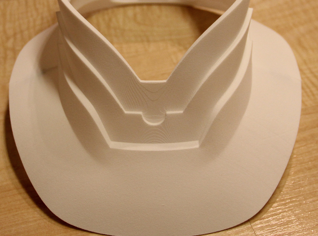 Part 1 of 2 - Iron Man Mark IV/Mark VI Neck Armor 3d printed Actual 3D print using the Strong & Flexible plastic