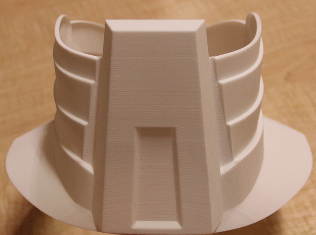 Part 2 of 2 - Iron Man Mark IV Neck Armor (Back) 3d printed Actual 3D print using the Strong & Flexible plastic