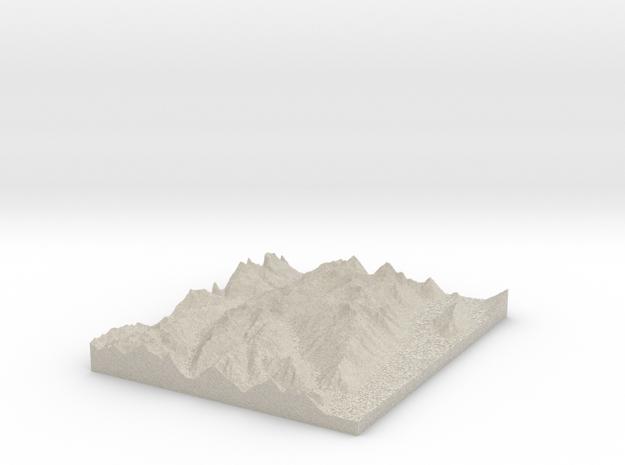 Model of Kay Creek in Natural Sandstone