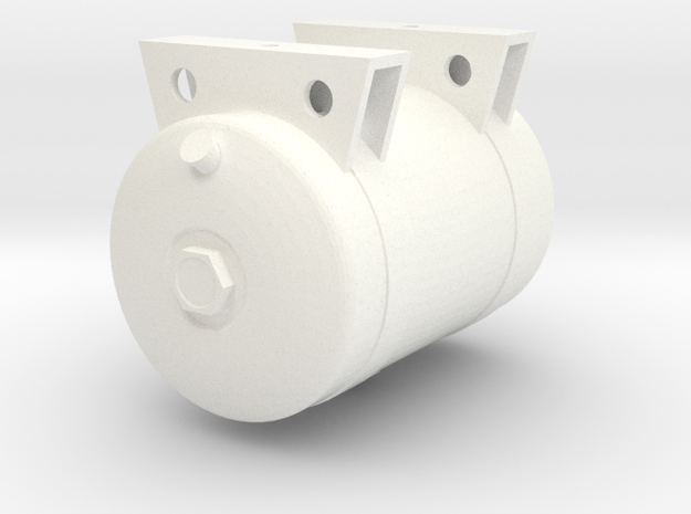 Reefer Fuel Tank, 60 Gal. 1/14 Scale in White Processed Versatile Plastic