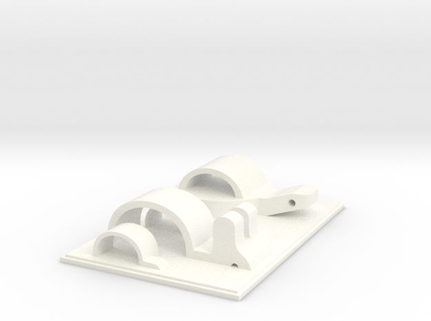 Rabbit & Tortoise Playground in White Processed Versatile Plastic