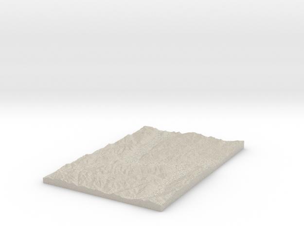 Model of Maori Gully in Sandstone