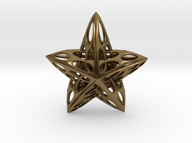 Star01 in Polished Bronze