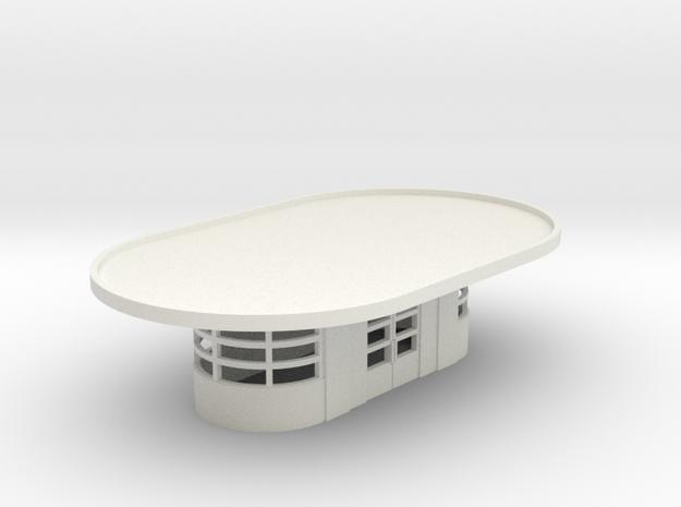 N Art Deco Waiting Room WSF in White Natural Versatile Plastic