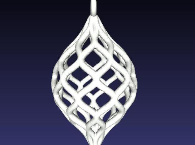 Netted Pendant 3d printed Rendering of larger ornament version.