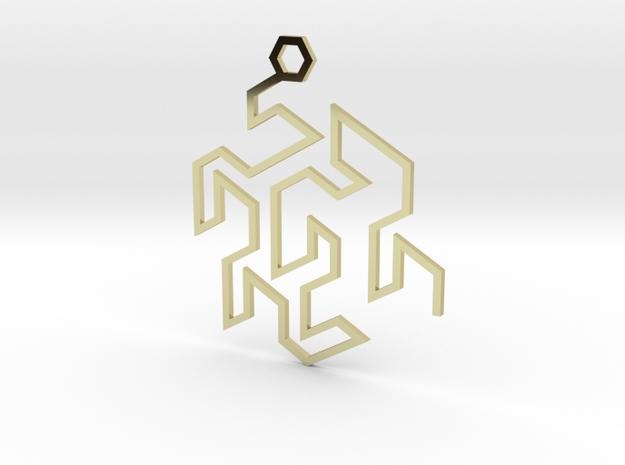 Gosper Pendant Single in 18k Gold Plated Brass