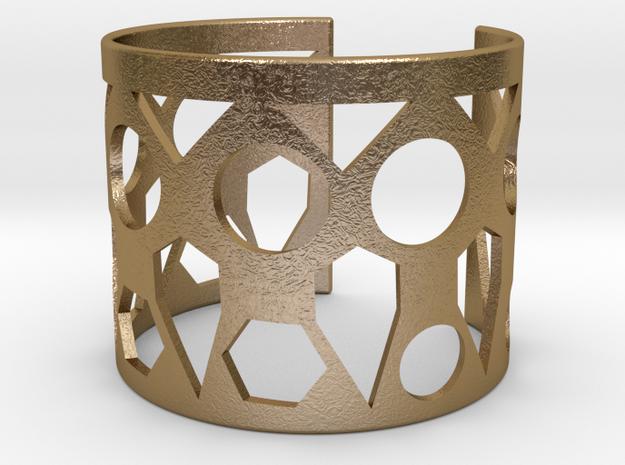 Cubic Bracelet Ø73 Mm Style A/Ø2.874 XL in Polished Gold Steel