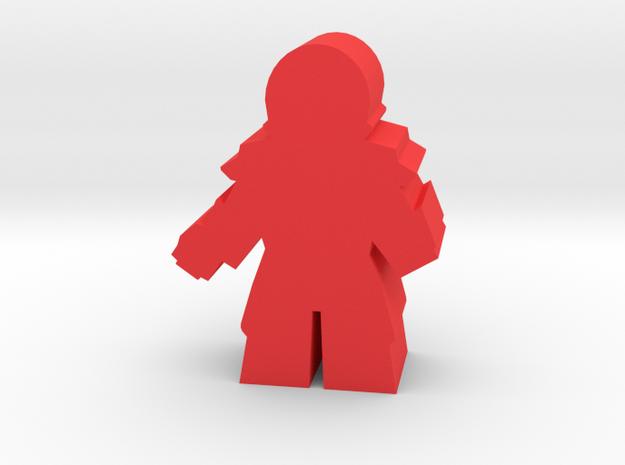Game Piece, Reptoid Commander in Red Processed Versatile Plastic