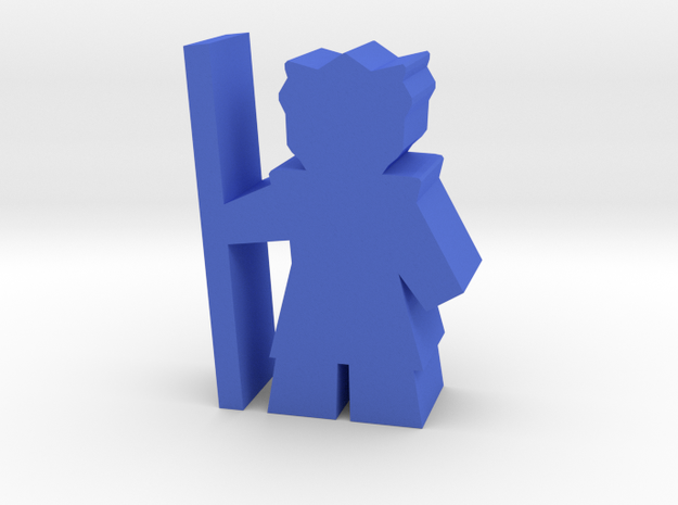 Game Piece, Bone Federation Warrior in Blue Processed Versatile Plastic