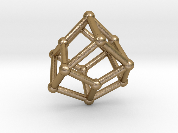 0464 Trapezohedron V&E (01) #002 in Polished Gold Steel