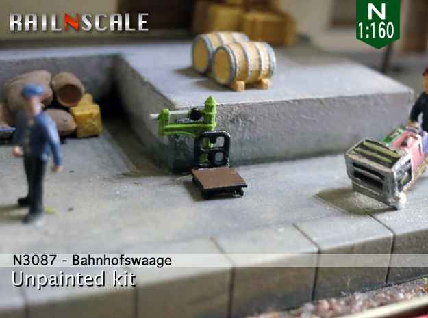 Bahnhofswaage (N 1:160) in Smooth Fine Detail Plastic