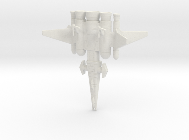 Galaxy Alliance Earth Warship in White Natural Versatile Plastic