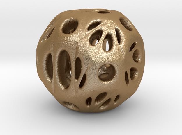 hydrangea ball 03 in Matte Gold Steel