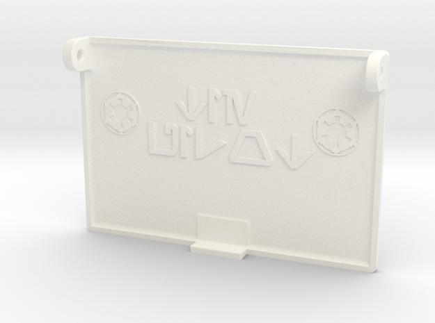 Pillbox Flap custom in White Processed Versatile Plastic