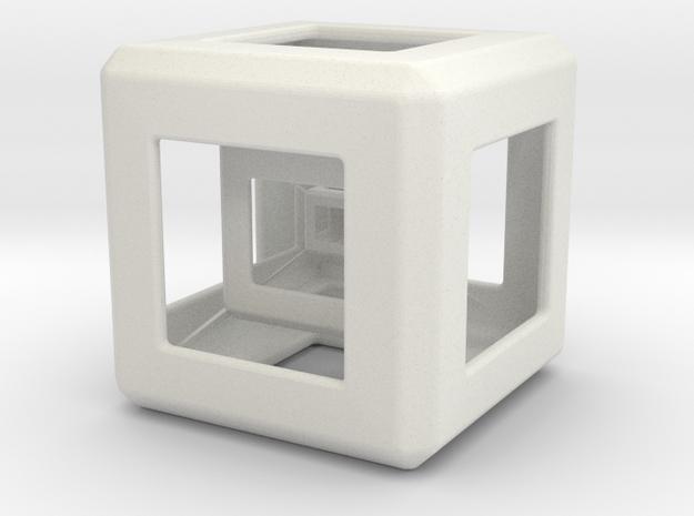 Triple Hyper Cube  in White Natural Versatile Plastic