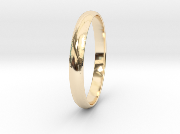 Ring Size 5.5 Design 3 in 14k Gold Plated Brass