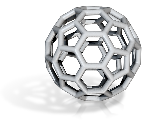 DRAW geo - sphere polygons A in White Natural Versatile Plastic