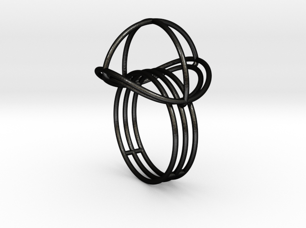 VESICA PISCIS Ring Nº2 in Matte Black Steel