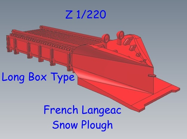 Z 1-220 French Long Langeac Railway Snow Plough