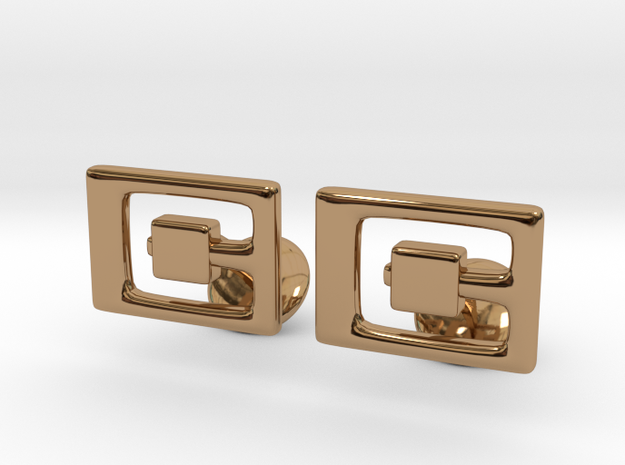 G Cufflinks in Polished Brass