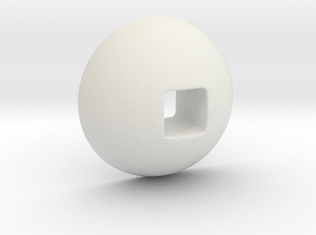 Bender Eye in White Natural Versatile Plastic
