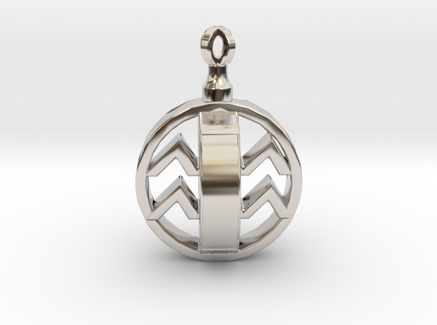 Naomi's Birthday Pendant in Rhodium Plated Brass