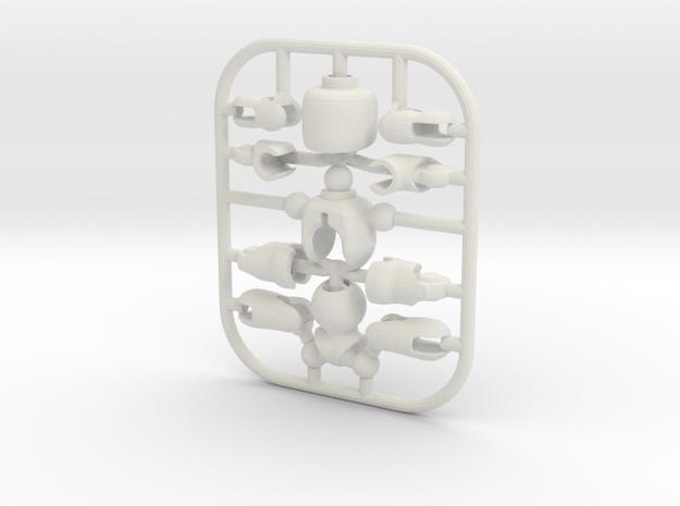 Go Ego in White Natural Versatile Plastic