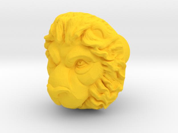 LEON door knob in Yellow Processed Versatile Plastic
